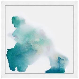 24x24 Aqua Dance II, Glass Framed, 36PUN571