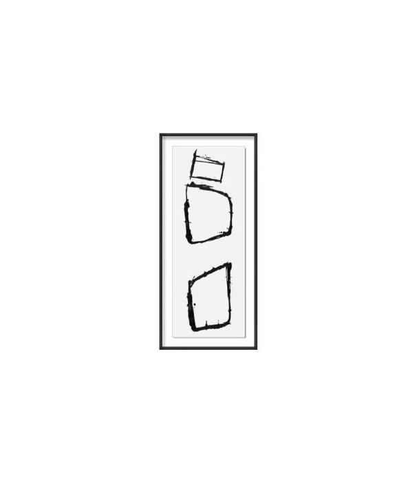 23.5x53.5 cairn I, Glass Framed Custom, 36PUN1530