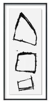23.5x53.5 cairn II, Glass Framed Custom, 36PUN1530