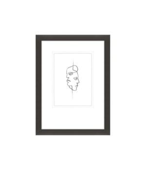 20x27 Line Portraits I, Glass Framed, Frame 36PM14118