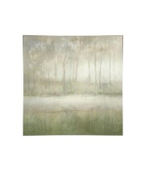 47x47 Silent Bayou, Encaustic Gel, Frame 36P1708