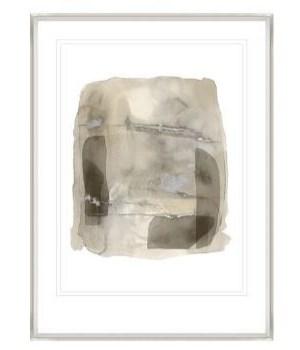 26x35 Silent Cloud V, Glass Framed Gilded Silver, Frame 36PUN2626