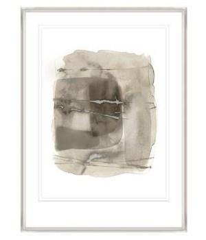 26x35 Silent Cloud VII, Glass Framed Gilded Silver, Frame 36PUN2626