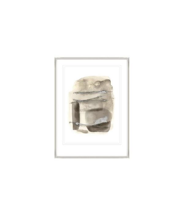 26x35 Silent Cloud VIII, Glass Framed Gilded Silver, Frame 36PUN2626
