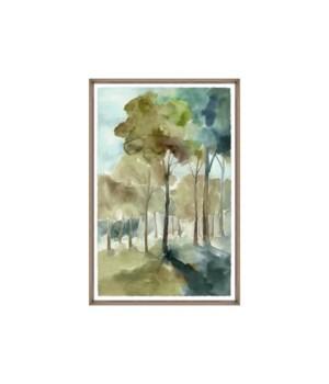 24x36 Sunshine Through a Forest II, Glass Framed, Frame 36PUN2622
