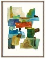 24x31 Roca Colorida I, Glass Framed, 36PUN2622