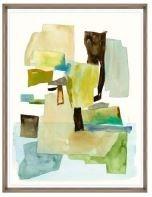 24x31 Roca Colorida II, Glass Framed, 36PUN2622