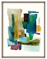 24x31 Roca Colorida IV, Glass Framed, 36PUN2622