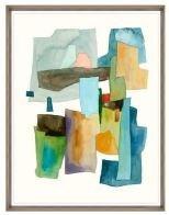 24x31 Roca Colorida V, Glass Framed, 36PUN2622