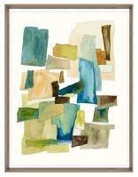 24x31 Roca Colorida VI, Glass Framed, 36PUN2622