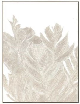 30x40 Silvery Natural Leaves I, Glitter Hand Painting, 36P1728