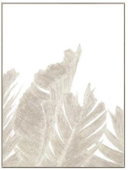 30x40 Silvery Natural Leaves II, Glitter Hand Painting, 36P1728
