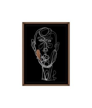 24x32 Blind, Glass Framed Hand Embellishment, Frame 36PUP2655