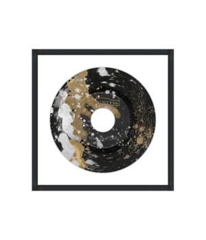 30x30 Gold Silver Rain I, Glass Framed, Dimensional Art, Frame 36PUN1530