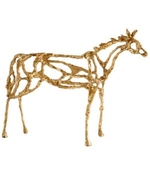 Ponder Gold Horse Sculpture