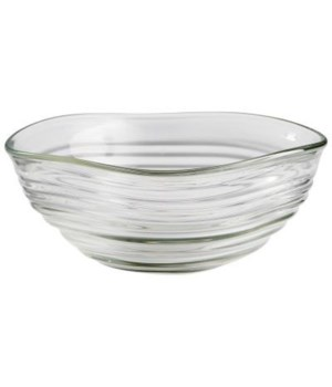 Small Wavalet Clear Bowl