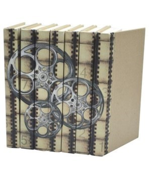 Image Collection-Film Reels, Silver Screen, Set of 7