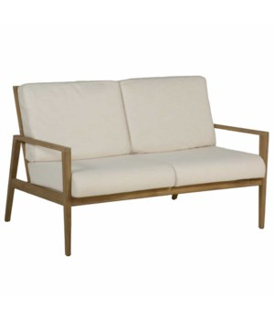 Woodlawn Sofa, Natural Teak, Phipher Beige