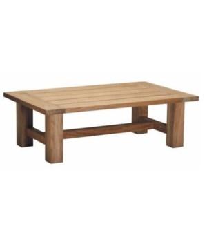 Croquet Teak Coffee Table, Natural Teak