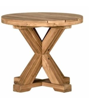 Modena End Table, Oyster Teak