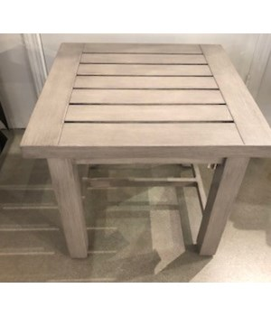 Club Aluminum End Table, Oyster