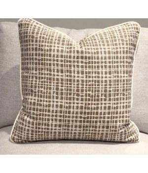 Large Throw Pillow, Marais Wren, Welt W402