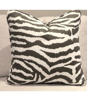 Large Throw Pillow, Zebra II Slate, Welt W426