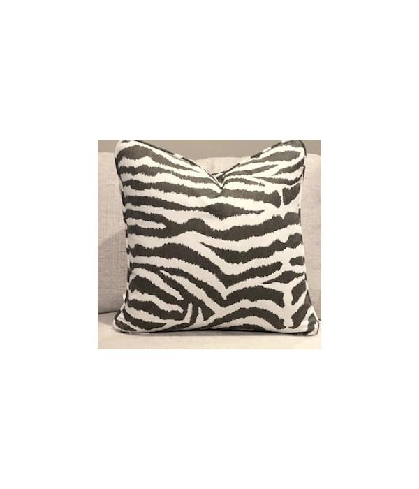 Large Throw Pillow, Zebra II Slate, Welt W426