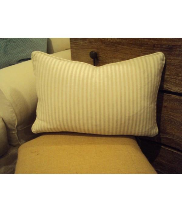 12x18 Pillow, Bray Natural Stripe, Gr E