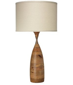 Amphora Table Lamp in Natural Wood