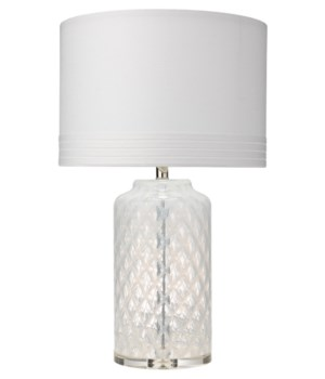White Diamond Table Lamp in Clear Glass