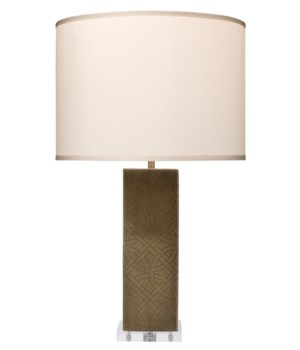 Jameson Table Lamp in Etched Antique Brass