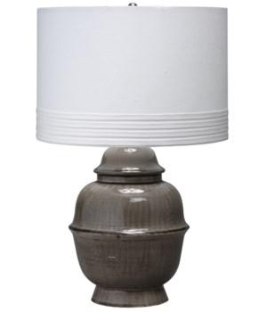 Kaya Table Lamp in Dark Grey Ceramic