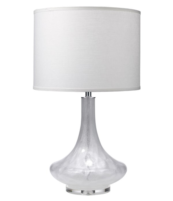 Latour Table Lamp in Clear Shimmer Glass