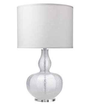 Maxine Table Lamp in Clear Shimmer Glass