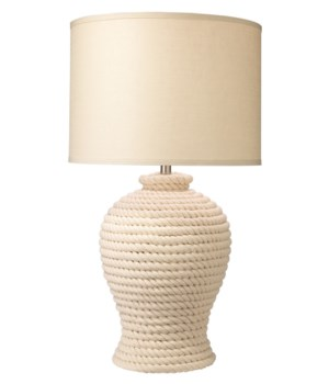 Poseidon Table Lamp in White Rope