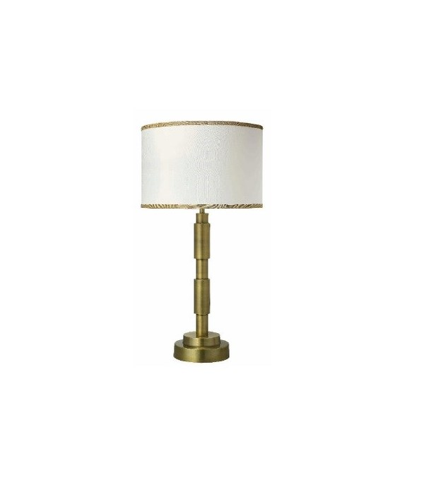 Quinn Table Lamp in Anitque Brass w Md Drum Shade