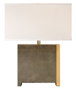Raymond Table Lamp in Grey Faux Shagreen