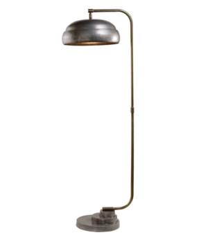 Steam Punk Gun Metal Floor Lamp