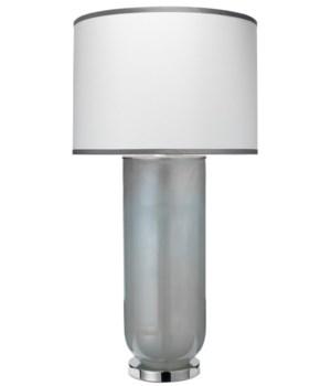 Lg Vapor Table Lamp in Opal Glass