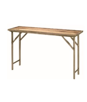 Campaign Console Table in Natural Wood