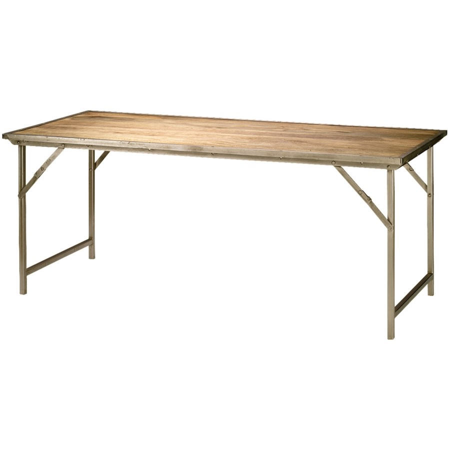 Campaign Dining Table in Mango Wood