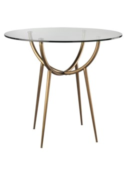 Large Carlito Table, Antique Brass