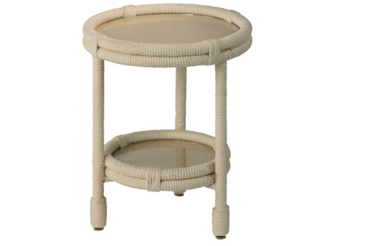 Delta Side Table in White Rope