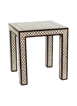 Mughal Bone Side Table in Bone Inlay