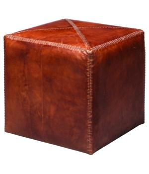 Sm Ottoman in Tobacco Leather