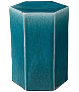 Lg Porto Side Table in Blue Ceramic