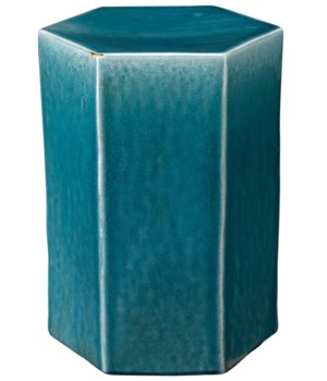 Sm Porto Side Table in Blue Ceramic