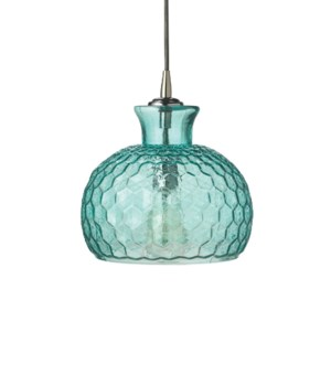 Clark Pendant in Aqua Glass