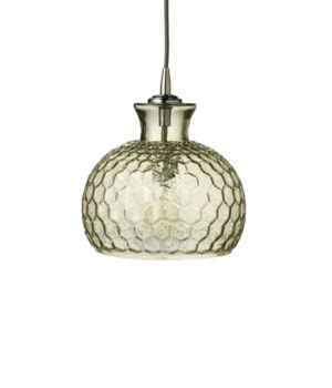 Clark Pendant in Taupe Glass